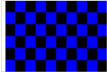 Black And Blue Check 5' x 3' Larger Sleeved Flag